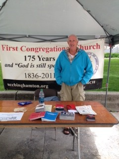 UCC Binghamton table at Pride Palooza in Downtown Binghamton