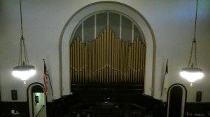 High View of Organ